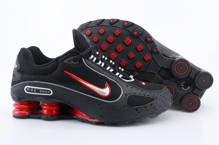 Nike Shox Monster Shoes Black Red Swoosh