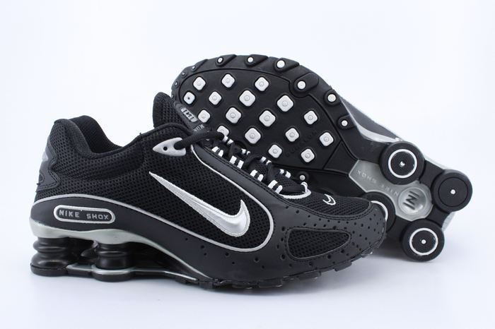 Nike Shox Monster Shoes Black Silver Swoosh