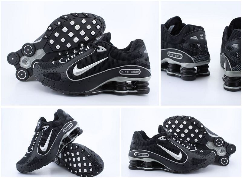 Nike Shox Monster Shoes Black White Swoosh