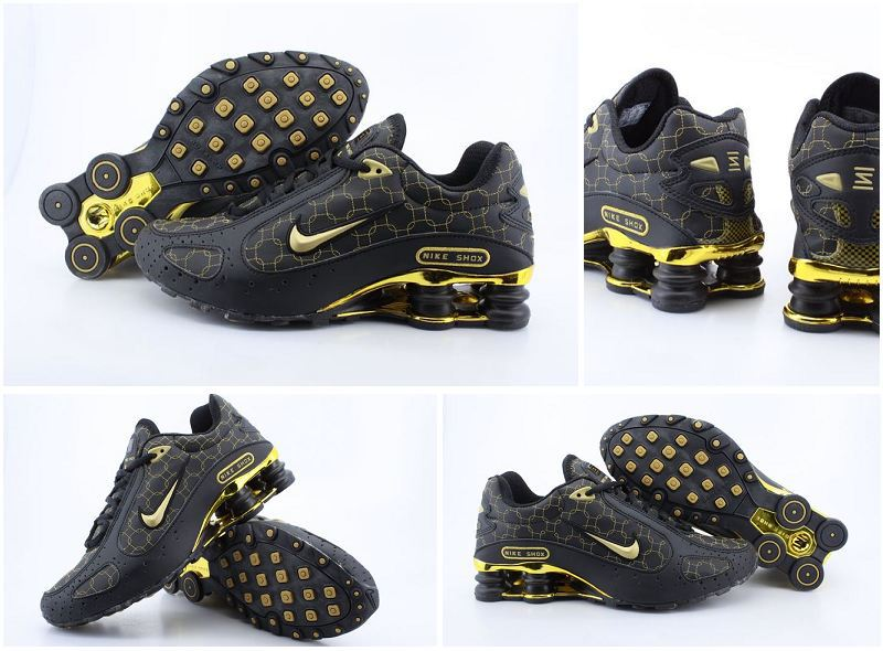 Nike Shox Monster Shoes Black Yellow