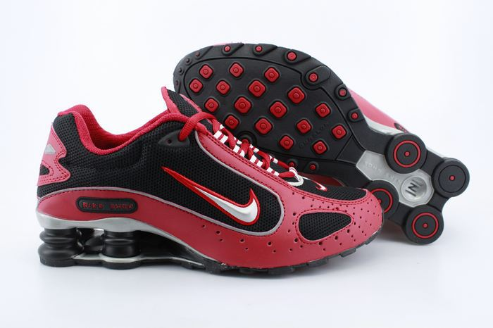 Nike Shox Monster Shoes Red Black Red Swoosh