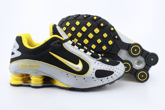Nike Shox Monster Shoes Silver Black Yellow