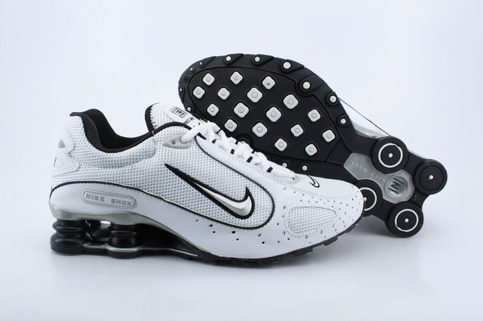 Nike Shox Monster Shoes White Black Swoosh
