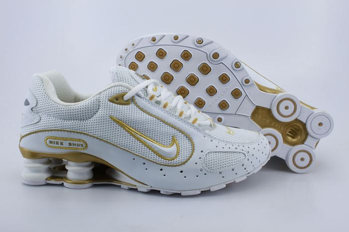 Nike Shox Monster Shoes White Gold Line