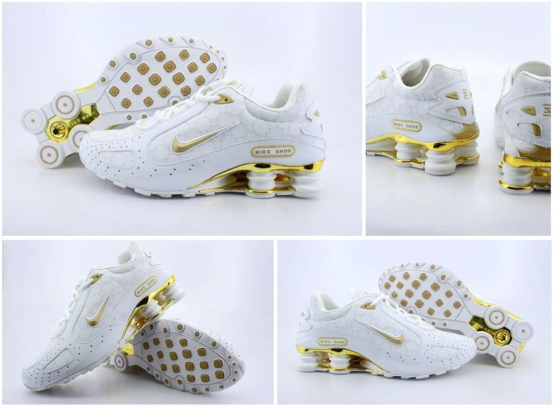 Nike Shox Monster Shoes White Gold