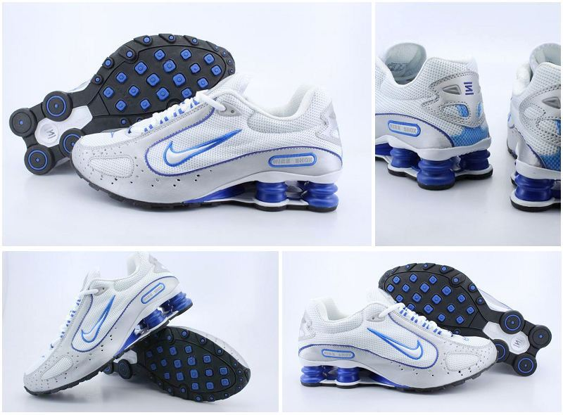Nike Shox Monster Shoes White Grey Blue