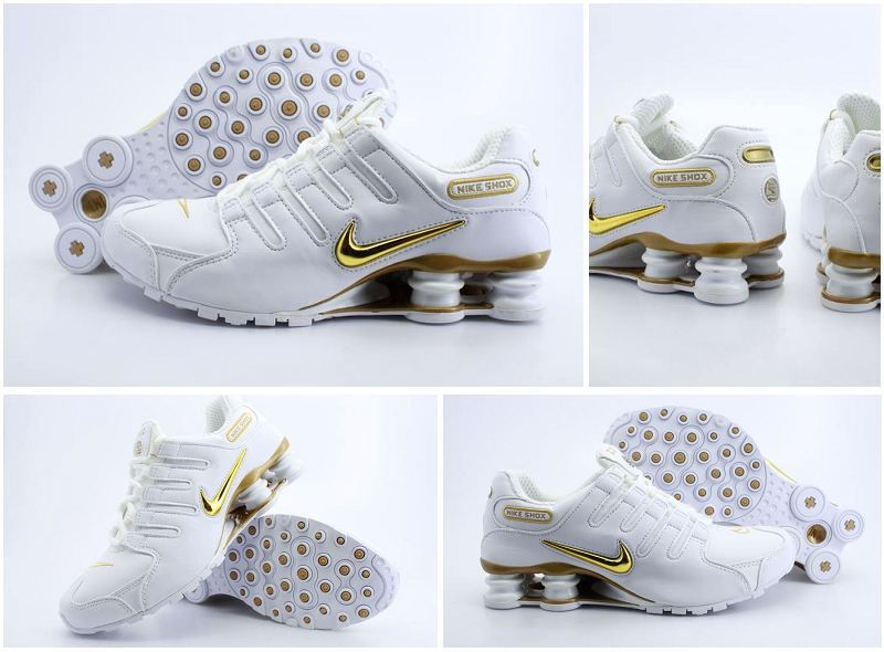 Nike Shox NZ Shoes White Brilliant Gold