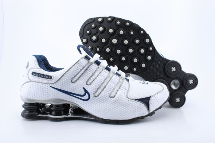 Nike Shox NZ Shoes White Grey Blue