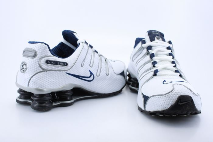 Nike Shox NZ Shoes White Grey Blue