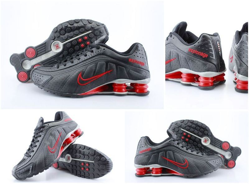 Nike Shox R4 Black Red Swoosh