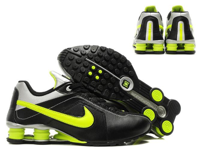 newest 7ba28 8b470 Original Nike Shox R4 Shoes Black White Yellow Big Swoosh