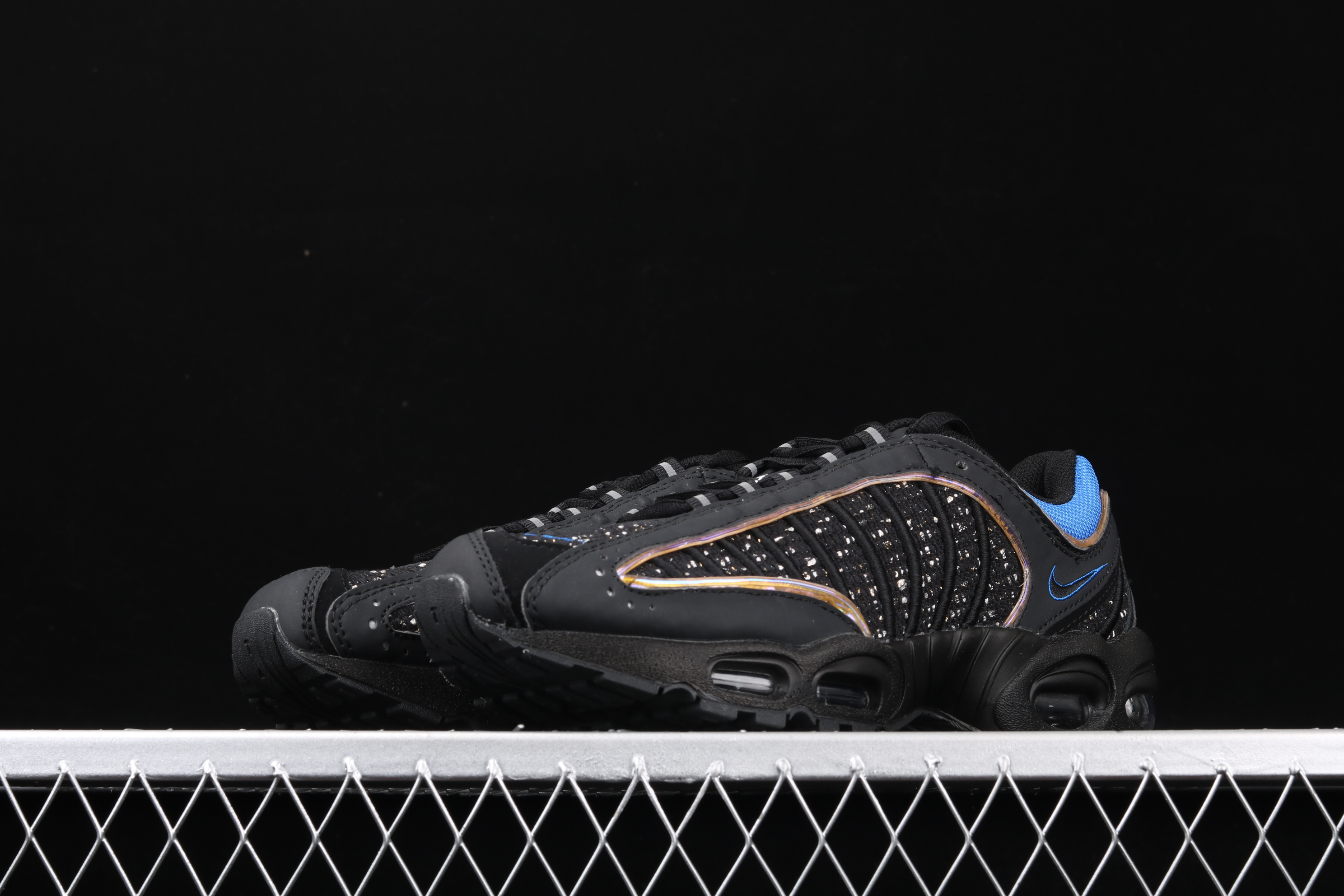 New Men Nike Air Max PLUS TXT Black Gold Running Shoes