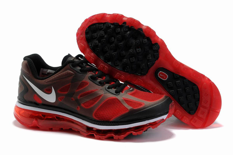 Nike Air Max 2012 Black Red White Logo Shoes