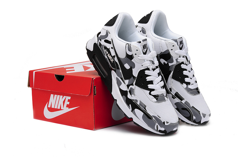 Nike Air Max 90 White Black For Women