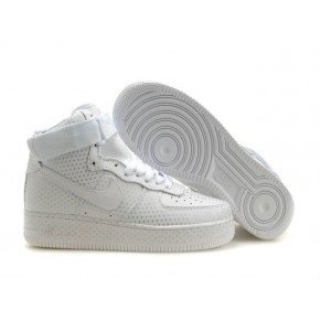 New Nike Air Force 1 High All White Shoes