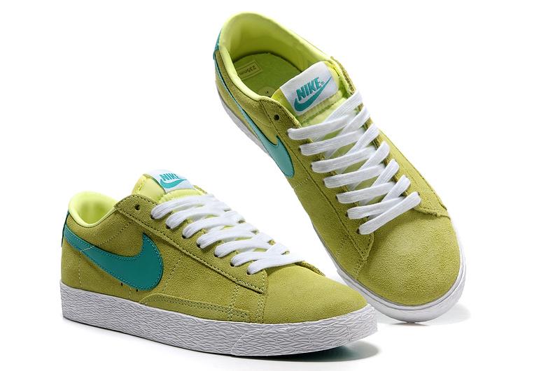 New Nike Blazer 1 Low Green Blue Men's Shoes