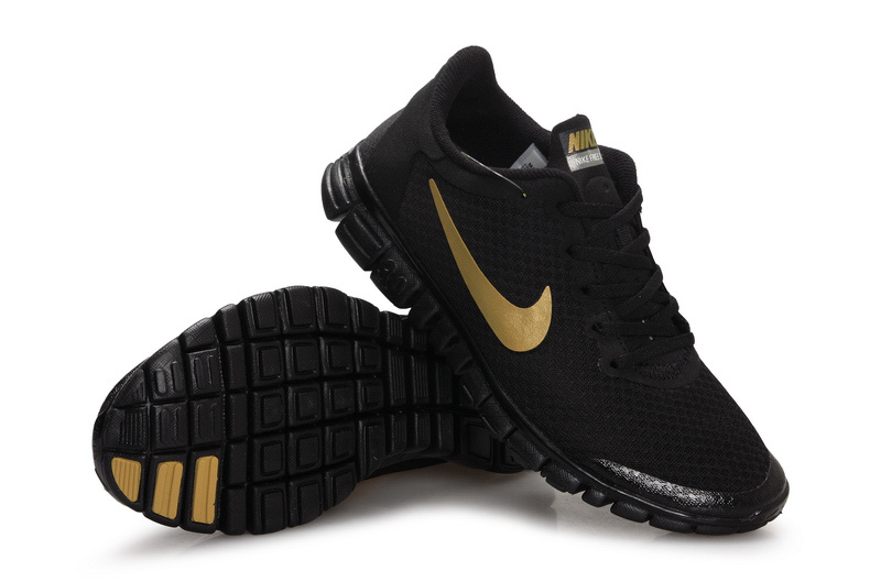 black and gold nike free
