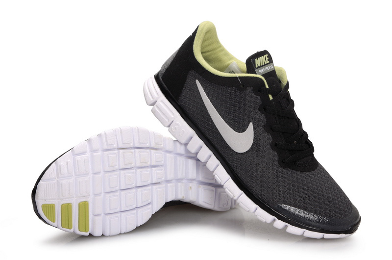 Latest Nike Free Run 3.0 Black Grey White Shoes