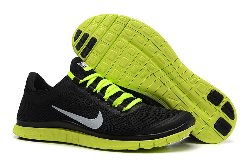 New Nike Free 3.0 V5 Black Fluorscent Green Running Shoes
