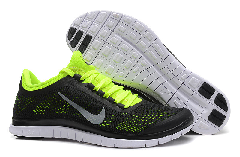 New Nike Free 3.0 V5 Black Fluorscent Running Shoes