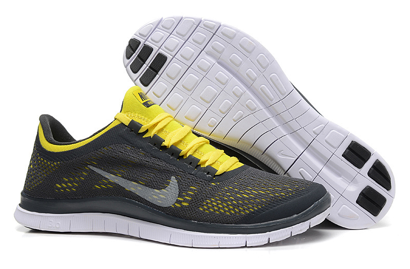 New Nike Free 3.0 V5 Black Yellow Running Shoes