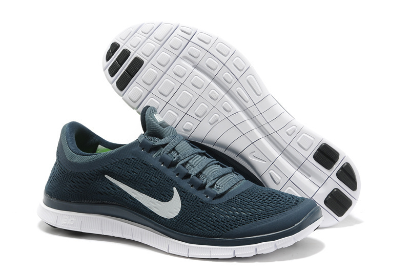 New Nike Free 3.0 V5 Deep Blue White Running Shoes