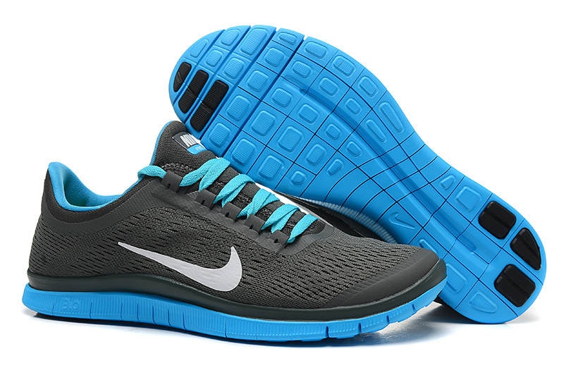New Nike Free 3.0 V5 Grey Blue Running Shoes