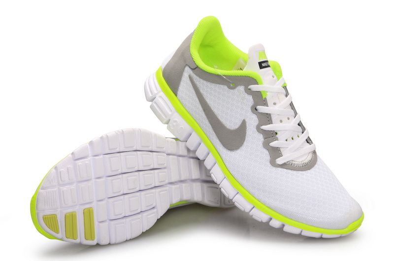 Latest Nike Free Run 3.0 White Grey Green Shoes