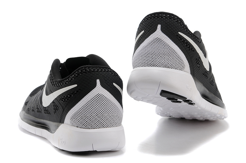 New Nike Free Run 5.0 Black White Shoes