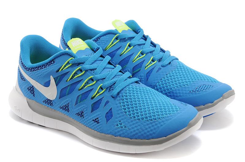 New Nike Free Run 5.0 Blue Grey White Shoes