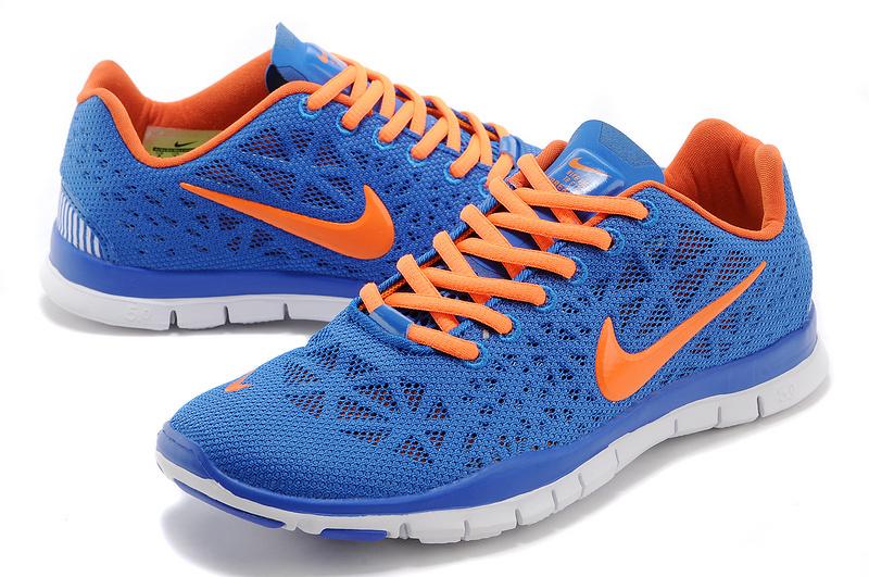 New Nike Free Run 5.0 Blue Orange White Shoes