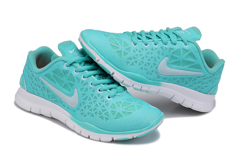 New Nike Free 5.0 Blue White Running Shoes For Women