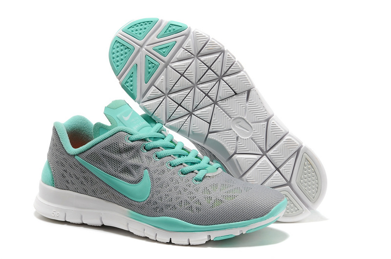 New Nike Free 5.0 Grey Jade Running Shoes For Women