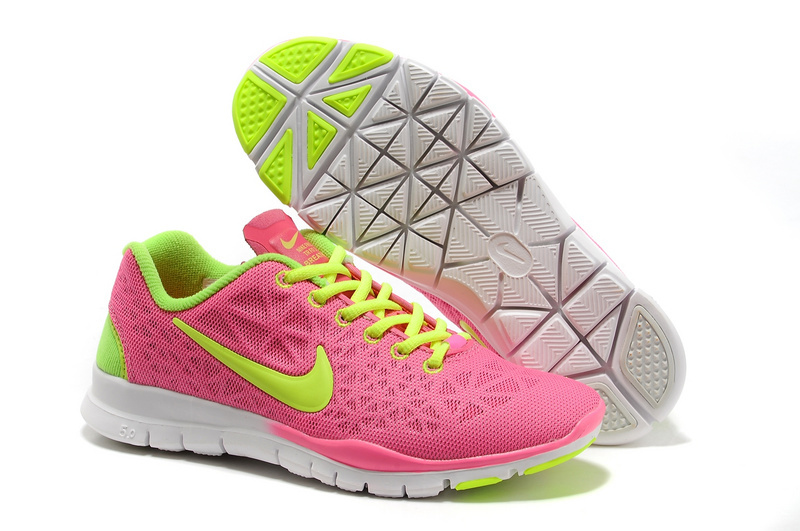 New Nike Free 5.0 Pink Fluorscent Running Shoes For Women