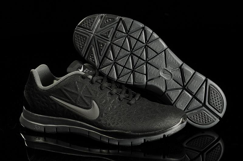 New Nike Free Run 5.0 Training All Black Shoes
