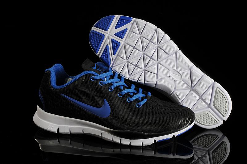 New Nike Free Run 5.0 Training Black Blue Shoes