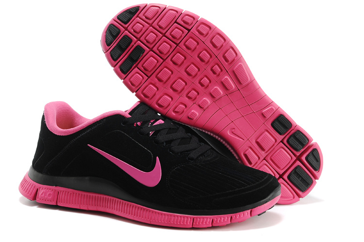 New Nike Free Run 4.0 V3 Suede Black Pink For Women