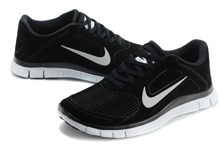 New Nike Free Run 4.0 V3 Suede Black White Shoes