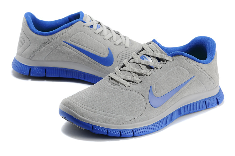 New Nike Free Run 4.0 V3 Suede Grey Blue Shoes