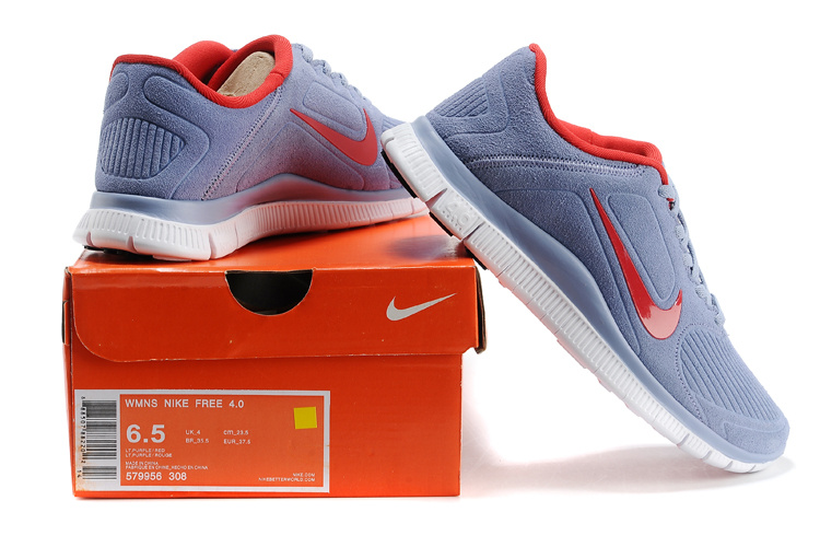 New Nike Free Run 4.0 V3 Suede Grey Orange For Women