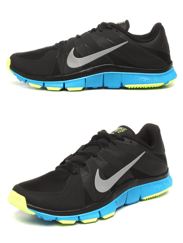 New Nike Free 5.0 Black Blue Shoes
