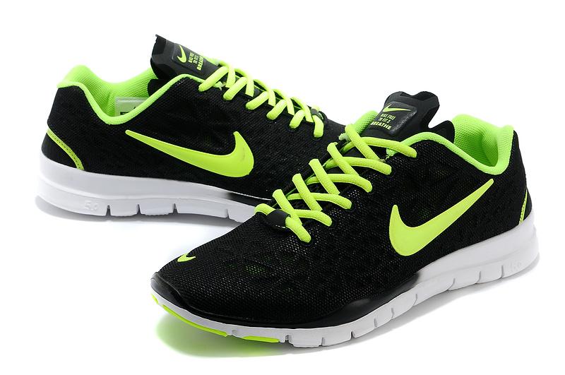 New Nike Free Run 5.0 Black Green Shoes
