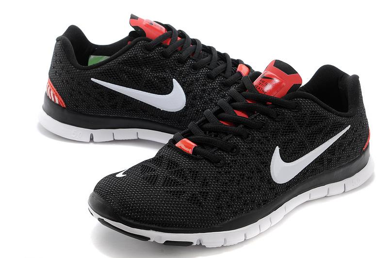 New Nike Free Run 5.0 Black White Shoes