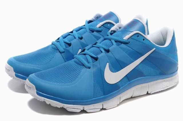 New Nike Free 5.0 Blue White Shoes