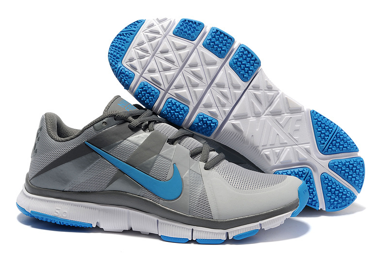 New Nike Free 5.0 Grey Silver Blue Shoes