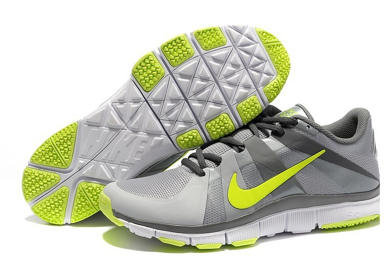 New Nike Free 5.0 Grey Silver Yellow Shoes
