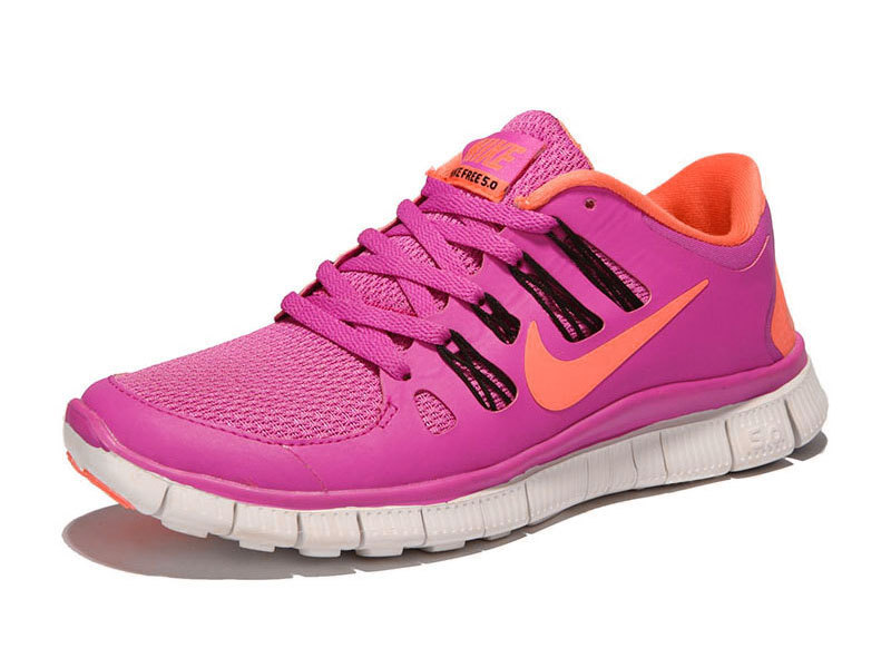 New Women Nike Free Run 5.0 Pink Orange