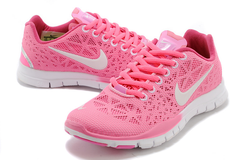 New Women Nike Free Run 5.0 Pink White