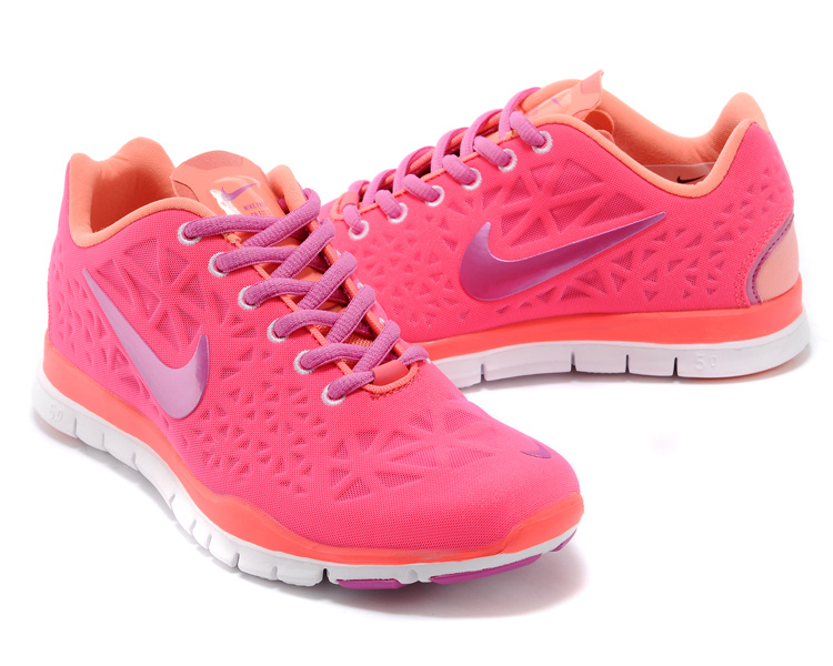 New Women Nike Free Run 5.0 Red Pink