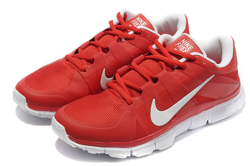 New Nike Free 5.0 Red White Shoes